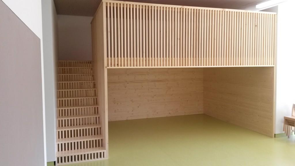 Gallerieböden in Schulhaus, Fichte Tanne