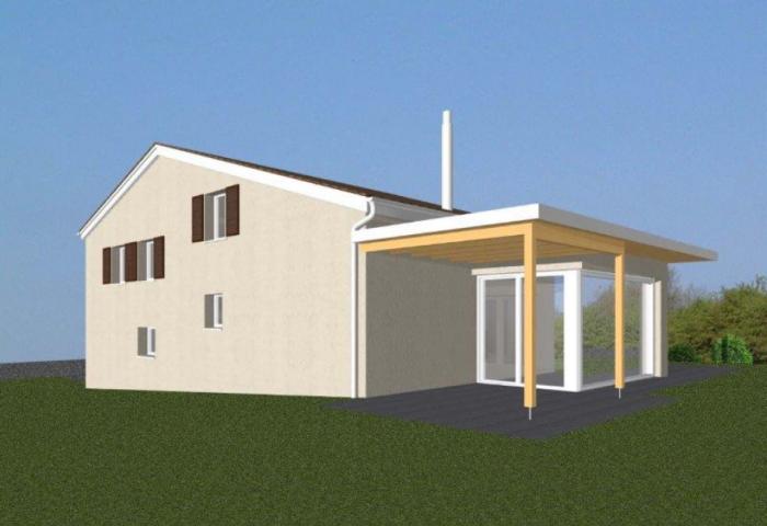 Visualisierung eines Anbau - Umbau