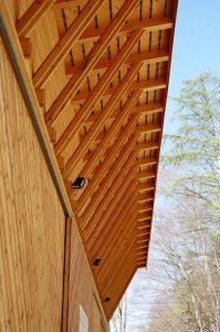 Holzkonstruktion mit Holzfassade alles in Fichte Tanne